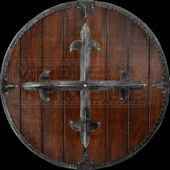 Fleur Cross Medieval Round Shield