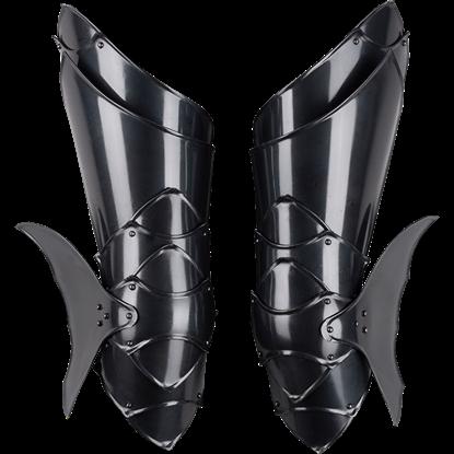 Blackened Rikomer Leg Guards