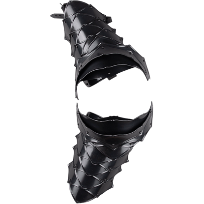 Blackened Rikomer Spaulders
