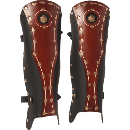 Praetorian Leather Greaves