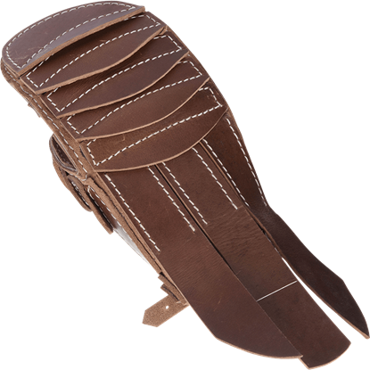 Brown Leather Gladiator Gauntlet