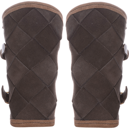 Leather Viking Bracers - Brown