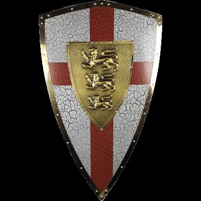 Gold Royal Lionheart Shield