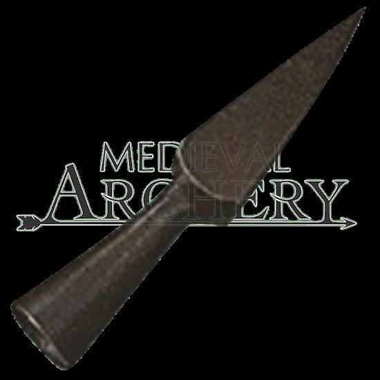 Short bodkin point blackened 56mm arrow head