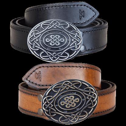 Celtic Knot Buckle Belt