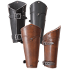 Lion Leather Bracers