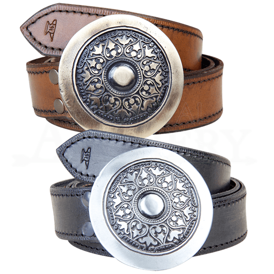 Medieval Shield Buckle Belt