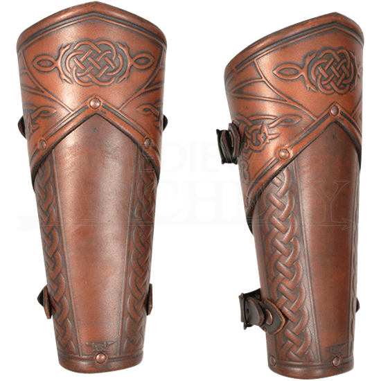 Celtic Mantikor Leather Bracers