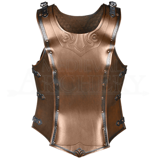 Artemis Embossed Leather Cuirass for Ladies