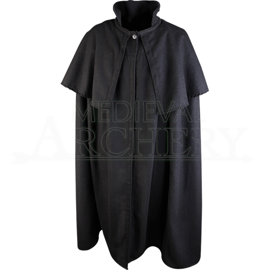 Wool Bron Cloak with Mantle
