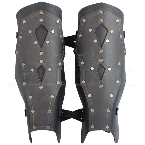 Mercenary Leather Greaves