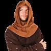 Medieval Velvet Cowl Hood
