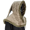 Embroidered Hood with Fur