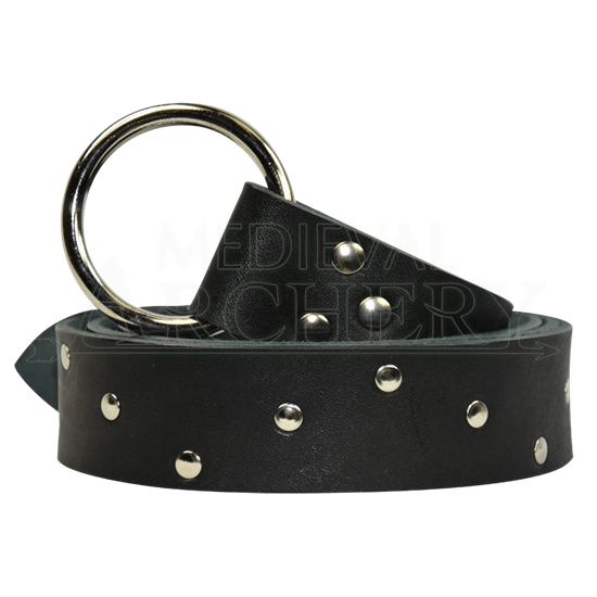 Zig Zag Studded Ring Belt