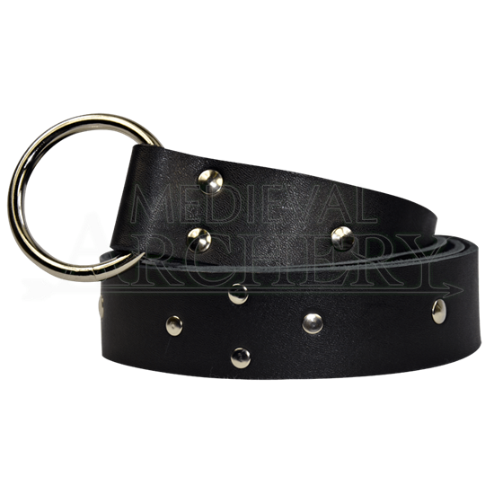 Studded Diamond Pattern Ring Belt