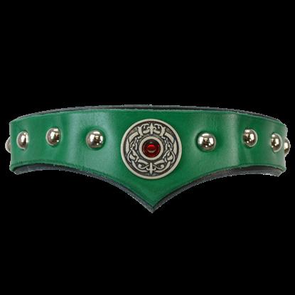 Childrens Celtic Leather Headband