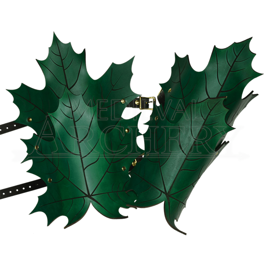 Elven Leaf Leather Greaves