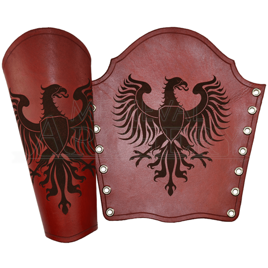 Germanic Eagle Leather Bracers