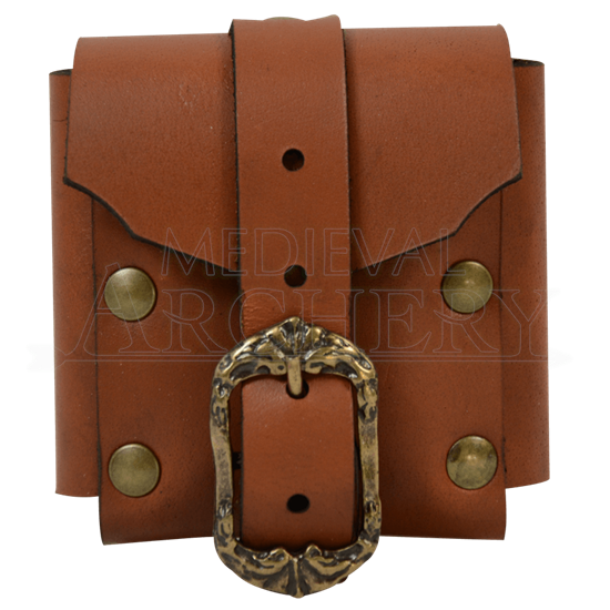 Small Gothic Leather Belt Pouch