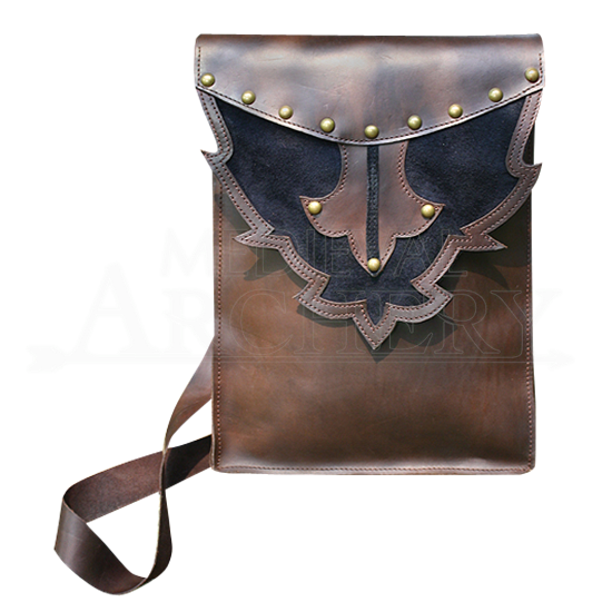 Tall Leather Shoulder Bag