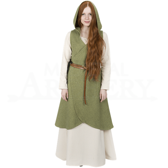 Late Medieval Hooded Wrap Dress