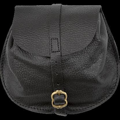 Small Merchant Leather Bag - Black