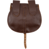 Small Merchant Leather Bag - Brown