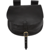 Adventurers Leather Flap Bag - Black
