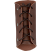 Simple Leather Wrist Bracers- Brown