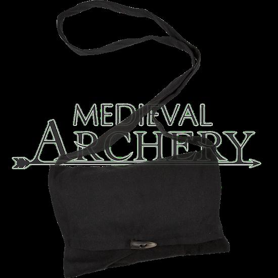 Medieval Canvas Shoulder Bag - Black