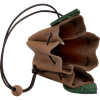 Elven Leaf Leather Pouch - Brown