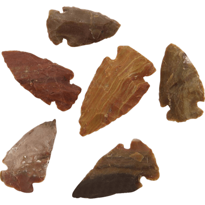 Agate Small Arrowheads Set Of 6