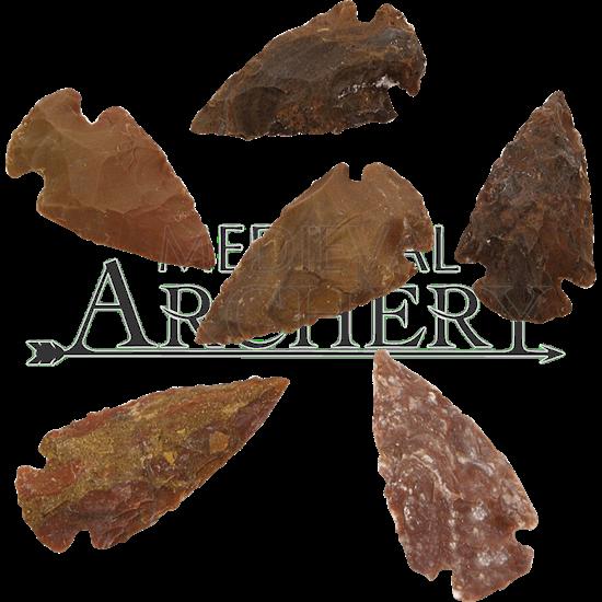 Agate Medium Arrowheads Set Of 6