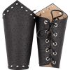 Distressed Leather Arm Bracers
