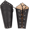 Celtic Boar Leather Arm Bracers