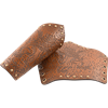 Rampant Lion Leather Arm Bracers