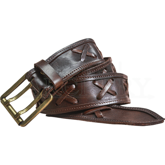 Crossed Leather Belt