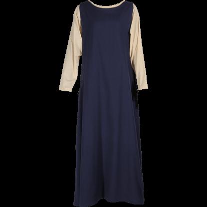 Ladies Medieval Surcoat with Underdress