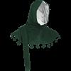 Wool Medieval Liripipe Hood - Green