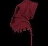 Wool Medieval Liripipe Hood - Maroon
