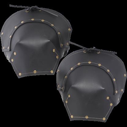 Baudouin Leather Pauldrons - Black