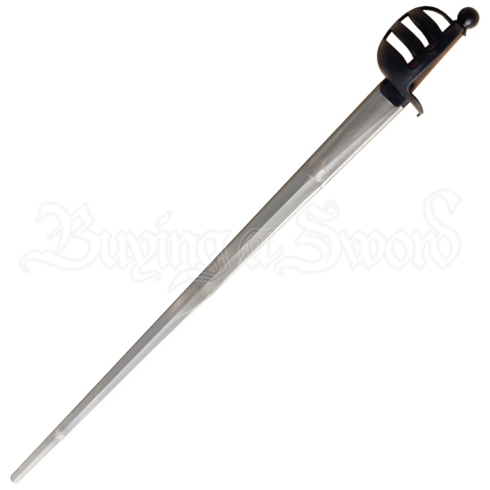 Xtreme Basket Hilt Synthetic Sparring Sword Silver Blade