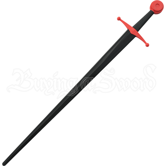 Black and Red Single Hand Sparring Sword