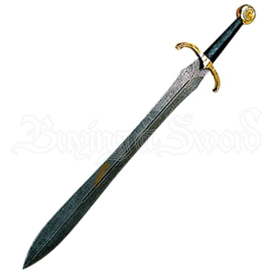 Damascus Medieval Leaf Shaped Sword