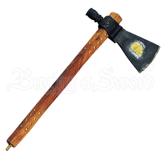 French Chippewa Forged Brass Heart Axe
