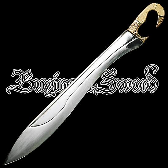 Kopis Sword with Bone and Brass Handle