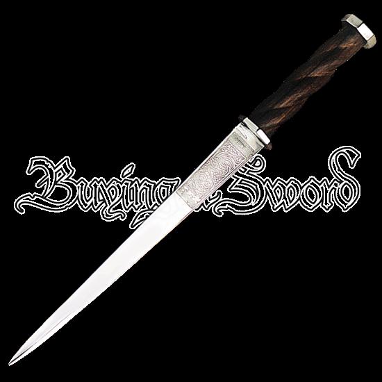 Engraved Steel Rondel Dagger