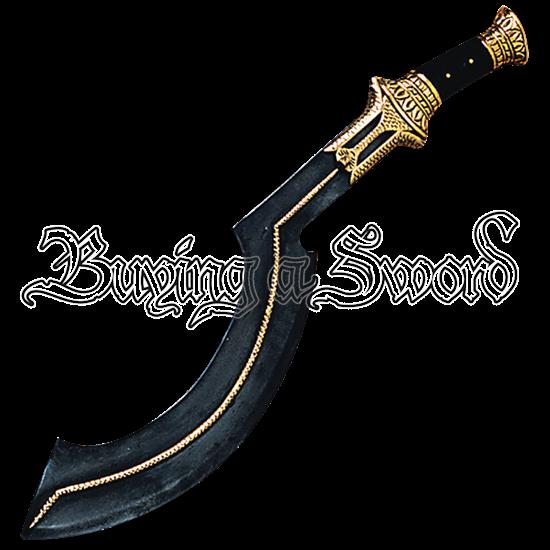Ornate Black Khopesh
