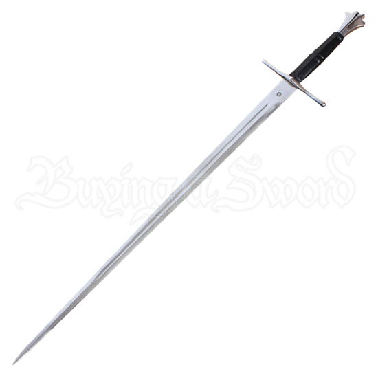 Two Handed Gothic Sword With Scabbard
