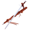 Two Handed Templar Sword With Scabbard